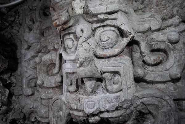 New Maya Temple Found, Covered With Giant Faces