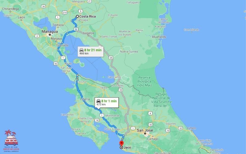 Costa Rica Border - Jaco & South