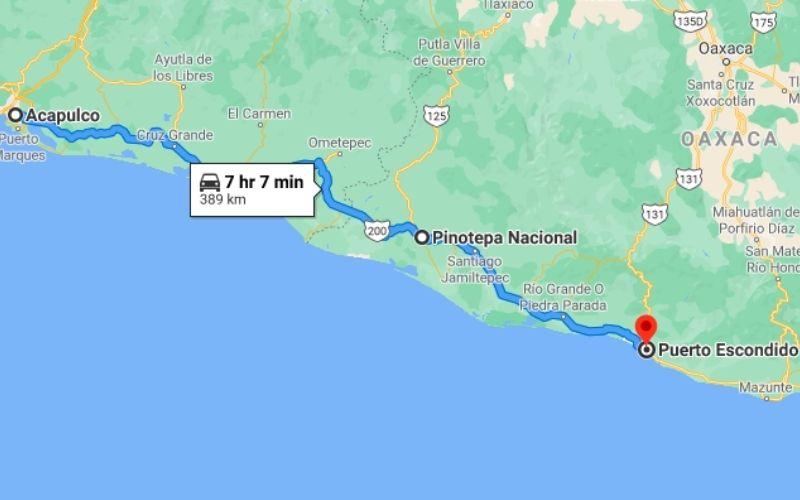 Acapulco – Pinotepa Nacional – Puerto Escondido