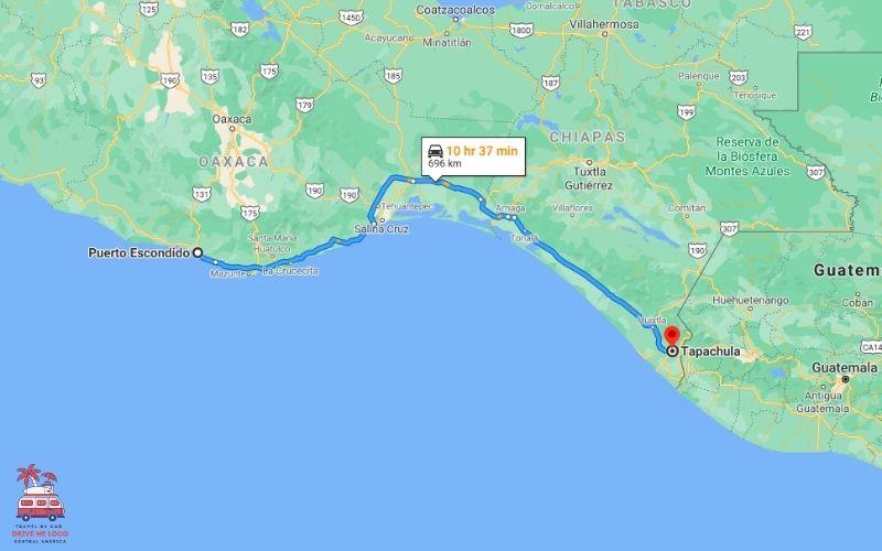 Puerto Escondido – Tapachula (Route 2)