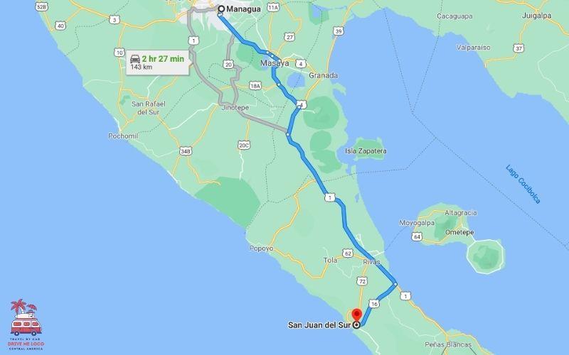 Managua - San Juan del Sur